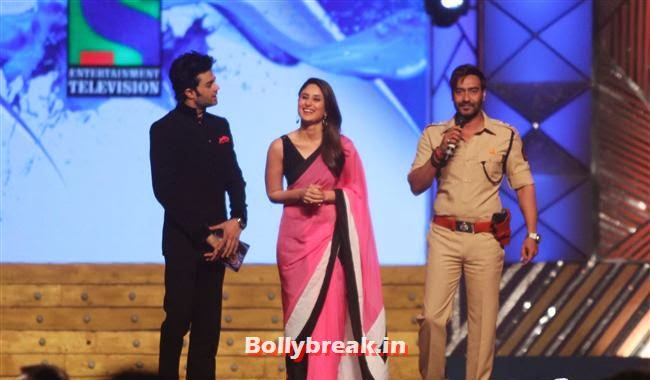 Manish Paul, Kareena Kapoor and Ajay Devgn, Bollywood Celebs at Umang Police Show 2014