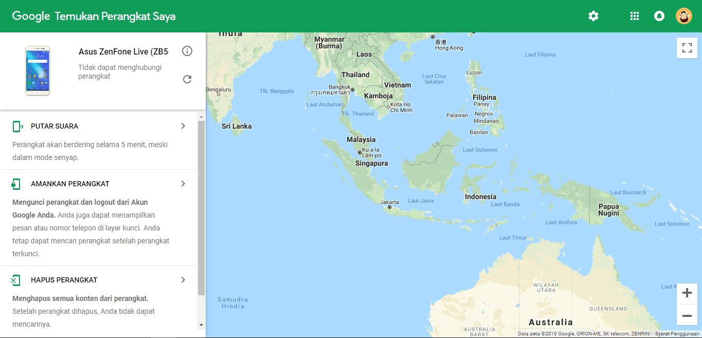 Melacak HP Hilang Menggunakan Google Maps