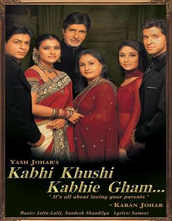 Poster Of Kabhi Khushi Kabhie Gham 2001 Hindi 700MB BRRip 720p ESubs HEVC Watch Online Free Download downloadhub.in
