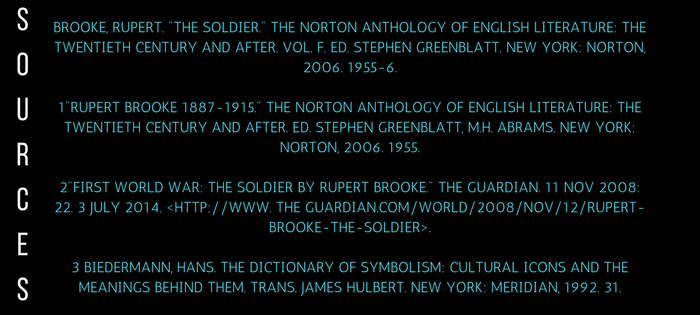 Analysis of Rupert Brooke's The Soldier Sources