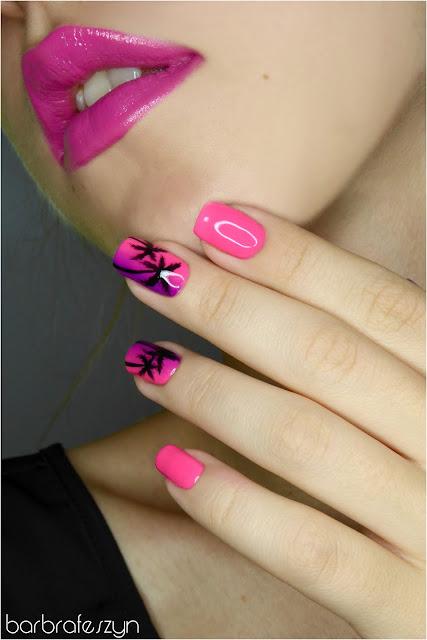 neonowe paznokcie