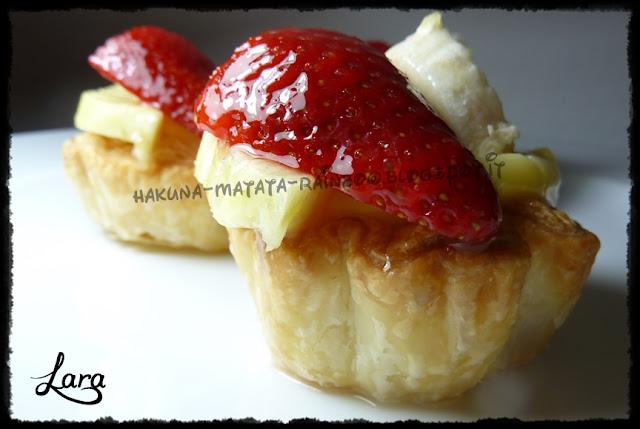 tartellette veloci con frutta e tortagel homemade