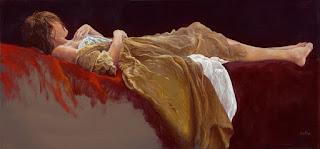composiciones-mujeres-pensativas-pinturas-oleo mujeres-escenas-tranquilas