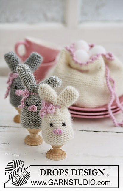 Knitted Bunny Egg Cozy Iknits
