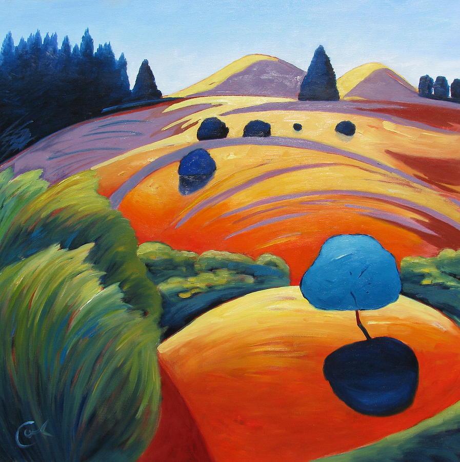 Cuadros modernos pinturas y dibujos paisajes sencillos y for Fotos de cuadros abstractos sencillos
