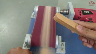 cara membuat sendiri mesin amplas belt sander bertenaga bor