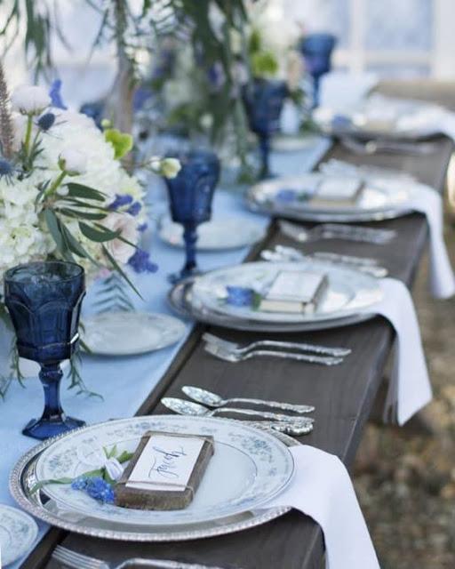 niebieskie dekoracje ślubne, ślub na śląsku