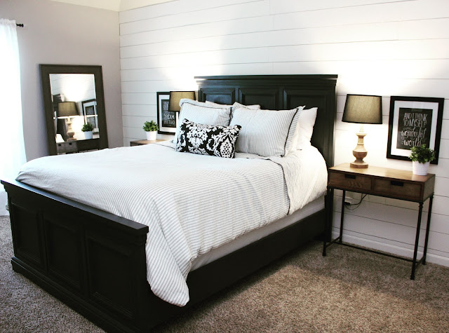 tongue and groove, shiplap, white, gray best bedroom, bedroom ideas