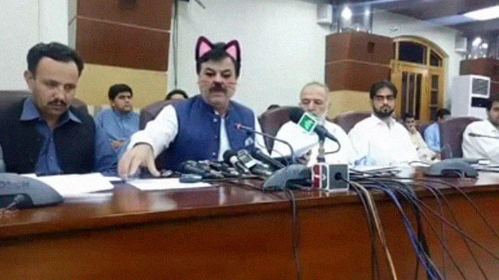 Pakistani Government Officials Forgot To Turn Off The Cat Filter During Facebook Live