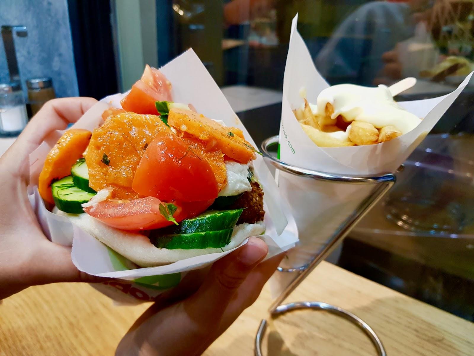 amsterdam vegetarian vegan food falafel sandwich