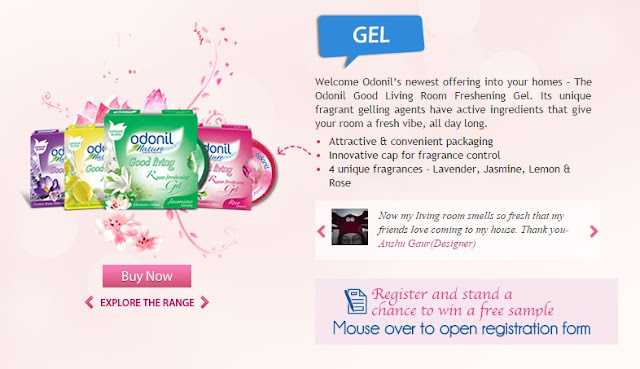 Register and stand a chance to win a FREE Odonil Gel sample