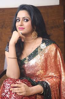 Udaya Bhanu lookssizzling in a Saree Choli at Gautam Nanda music launchi ~ Exclusive Celebrities Galleries 017.JPG