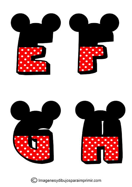 abecedario mickey mouse