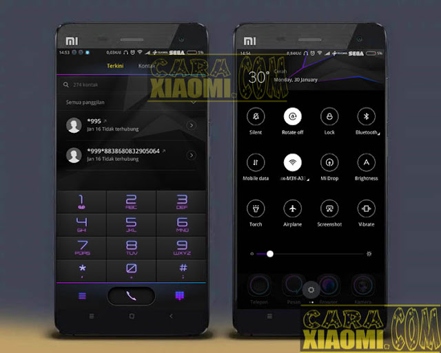 download MIUI Theme Purple Noen 光弧 Mtz V1.0.0.5 Tema Versi Terbaru For Xiaomi pasang tema