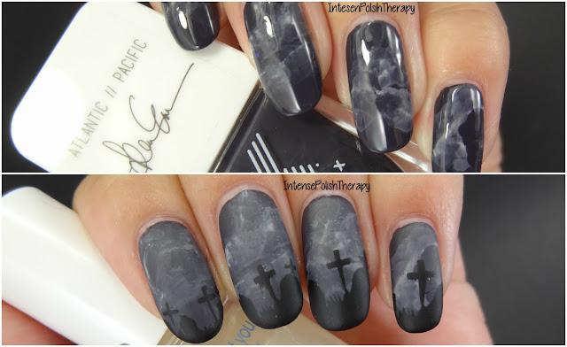 Smokey Graveyard Manicure | Halloweenicures