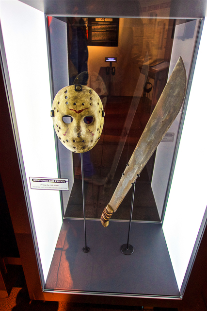 Jason Mask and knife at the EMP Museum in Seattle, WA