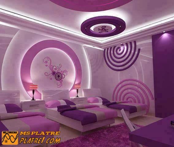 Faux plafond de chambre pour les filles