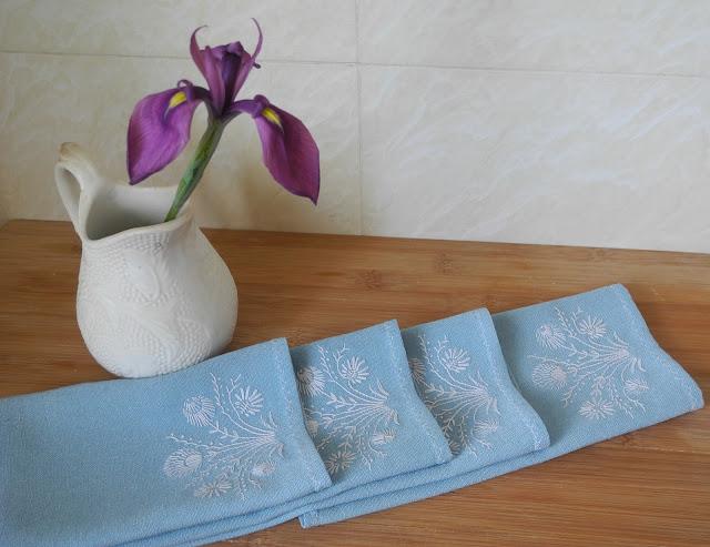 японская вышивка, салфетки
