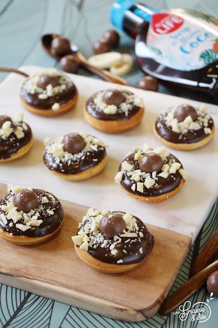 Mini Donuts Sirop de Fleurs de Coco Chocolat noir Recette pour diabétique