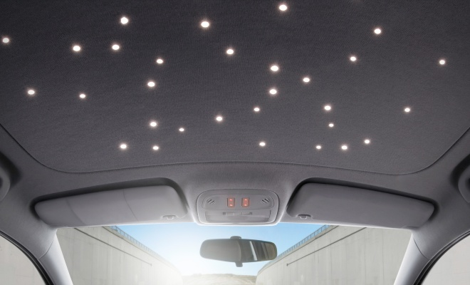 Vauxhall Adam LED star roof lining
