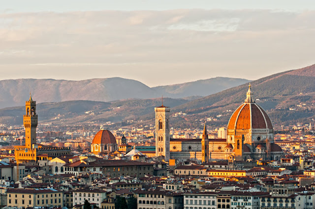 Piazzale Michelangelo offers amazing panoramic views of Florence and the Arno Valley