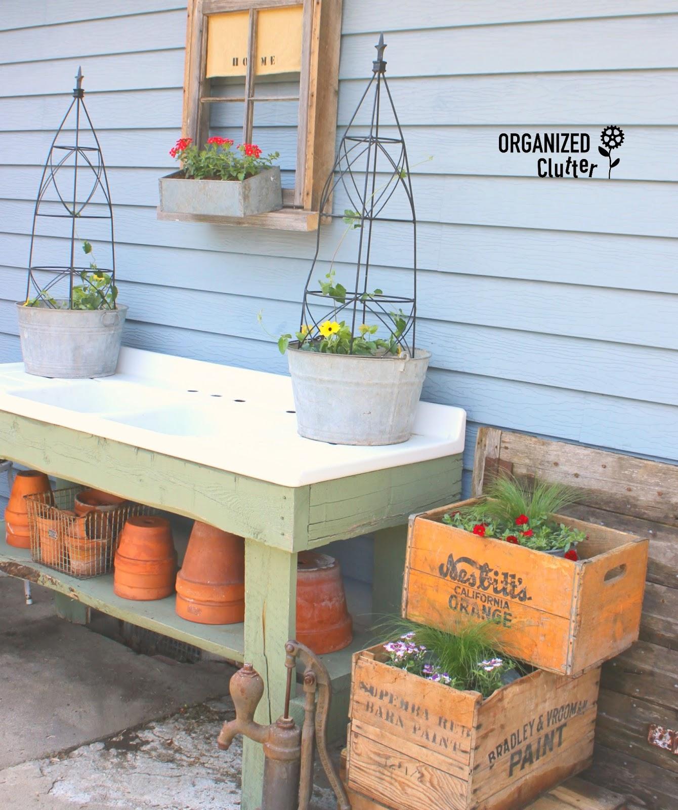 Garage Sale Junk To Awesome Garden Junk Organized Clutter