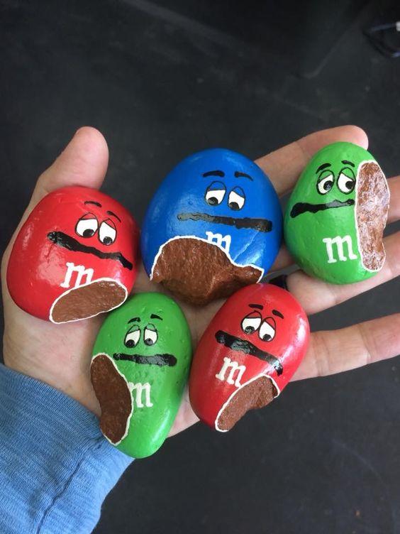 M&M painted rocks