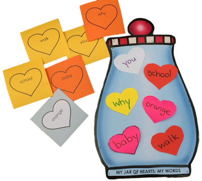 Practice any words with this free Valentines reading and writing activity!