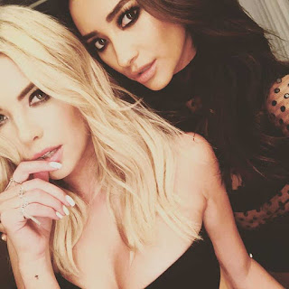 ButtahBenzo Ashley Benson and Shay Mitchell  BTS PLL photo shoot
