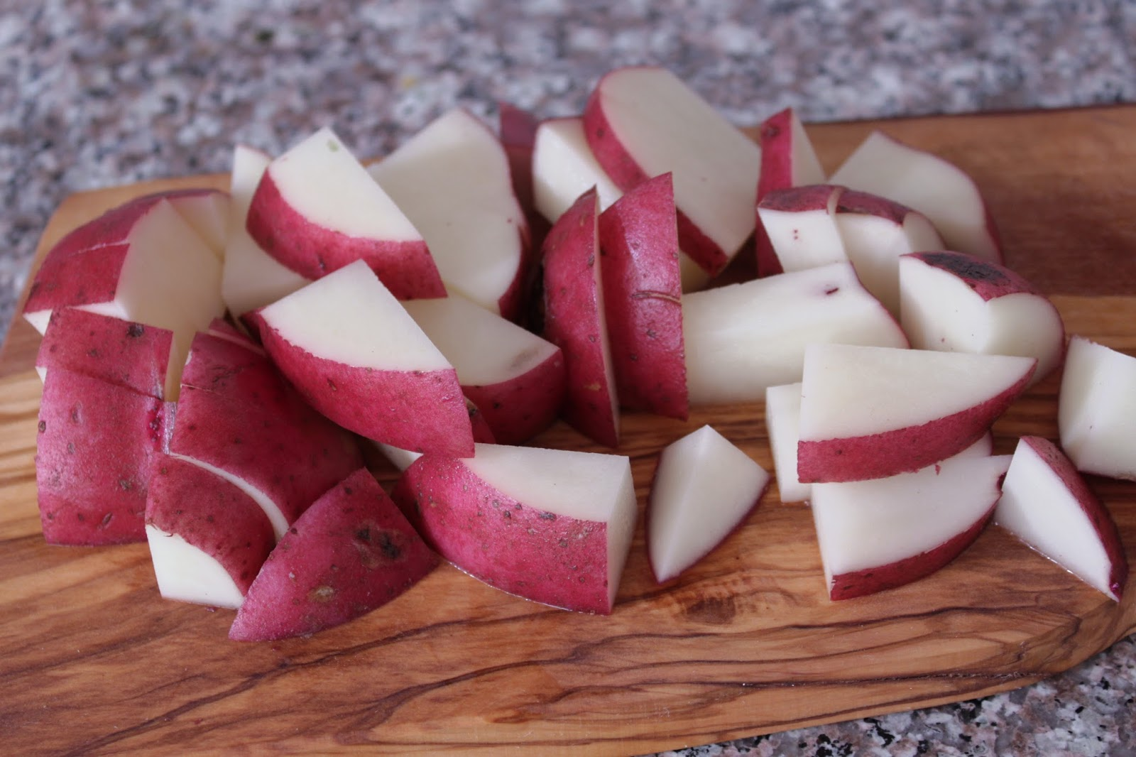 Greek style red potatoes