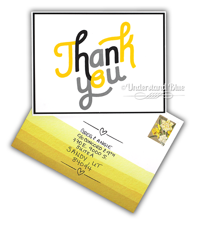 Triple Step Thank you Card by Understand Blue