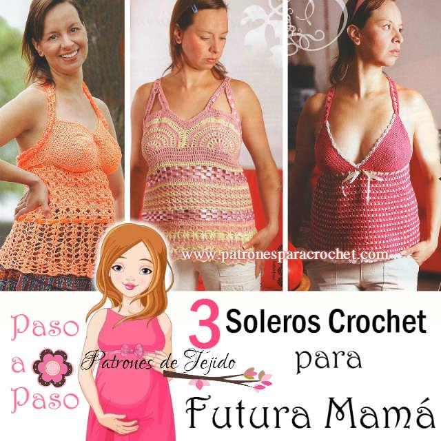 como tejer con ganchillo ropa para futura mamá