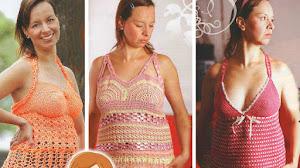 3 Soleros Futura Mamá para tejer al crochet / Paso a paso