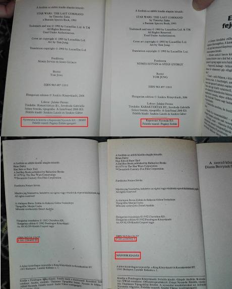 Csuhai Zoltán Star Wars könyvek több kiadásban