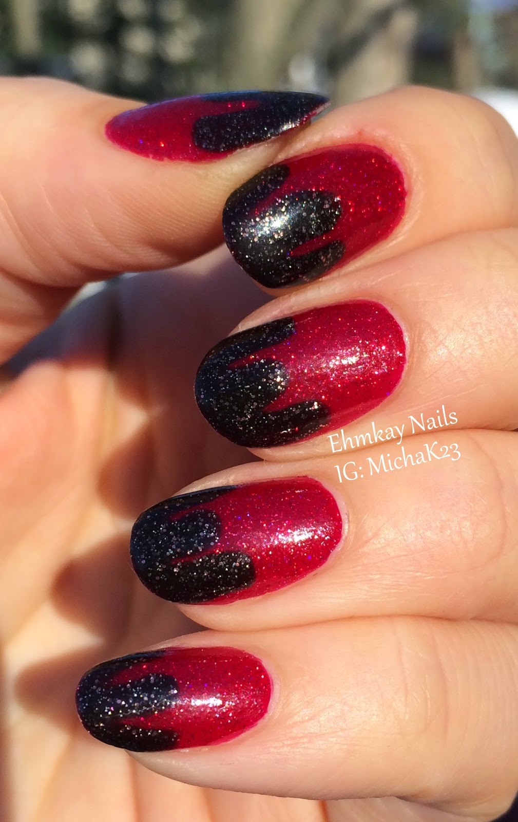 Ehmkay Nails Happy New Year S Eve Nail Art Stamping: Ehmkay Nails: Chocolate Dipped Strawberries Nail Art With