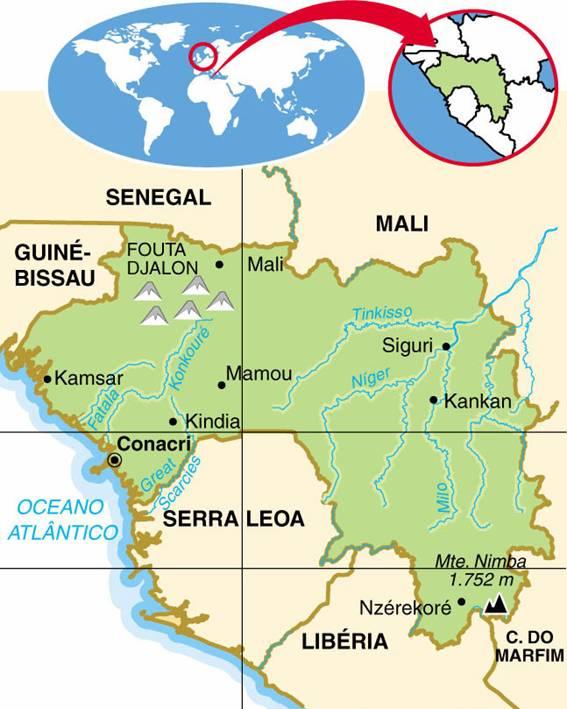 GUINÉ, ASPECTOS GEOGRÁFICOS E SOCIOECONÔMICOS DA GUINÉ