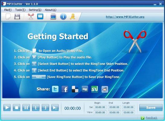 تحميل برنامج تقطيع الاغاني والصوت Free MP3 Cutter and Editor