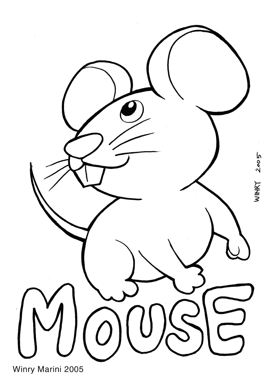 Mouse Coloring Page by Winry Marini 2005