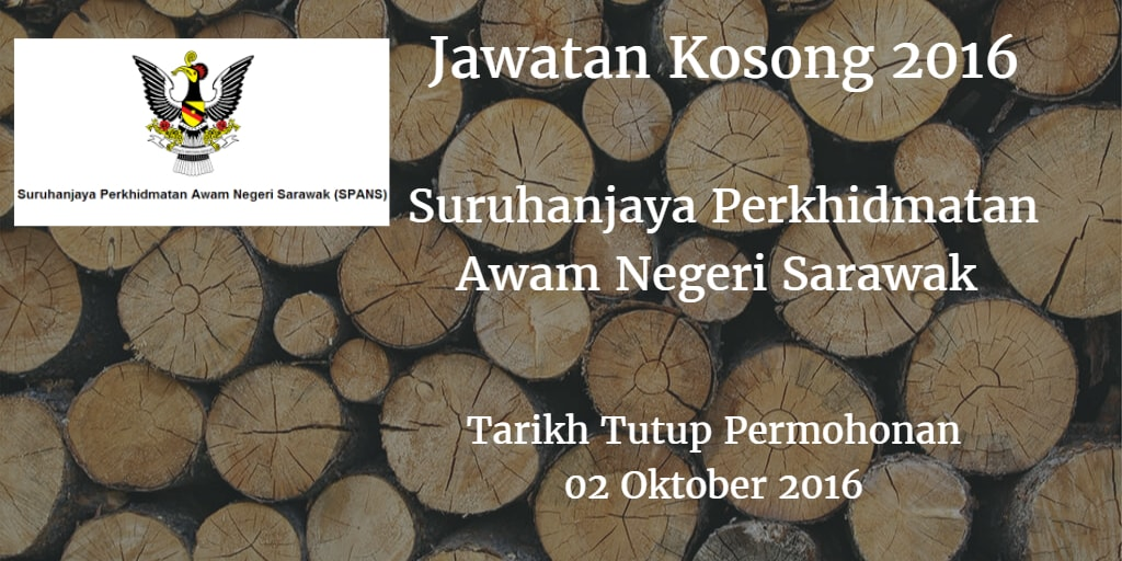Jawatan Kosong Suruhanjaya Perkhidmatan Awam Negeri Sarawak 02 Oktober 2016