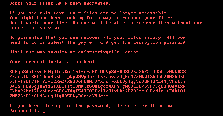 New Ransomware 'Bad Rabbit' Spreading Quickly Through Russia and Ukraine Turkey, and Germany
