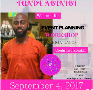 Tunde Abinibi : Events designer ( Abinibi events cottage )
