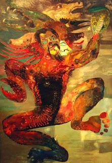 Bisikan Iblis Karya Lukisan Hendra Gunawan
