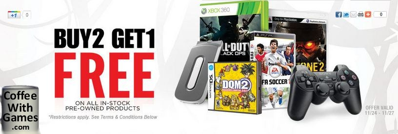Coffee With Games Gamestop S Buy 2 Used Get 1 Free Sale