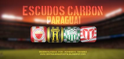 Escudos Carbon Paraguai - Brasfoot 2016