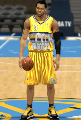 NBA 2K13 Denver Nuggets Alternate Jersey Patch