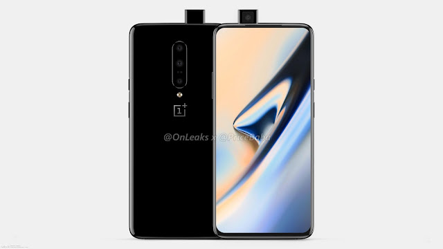 OnePlus 7 leaked renders demonstrate pop-up selfie camera, triple rear camera