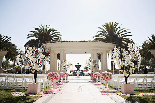 Gorgeous outdoor wedding ceremonies belle the magazine space no3 enchanted garden romantic and classic venue monarch beach resort photographer trista lerit junglespirit