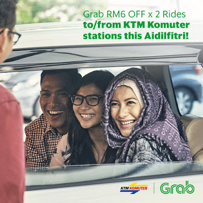 Grab Promo Code Discount Rides KTM Komuter Stations