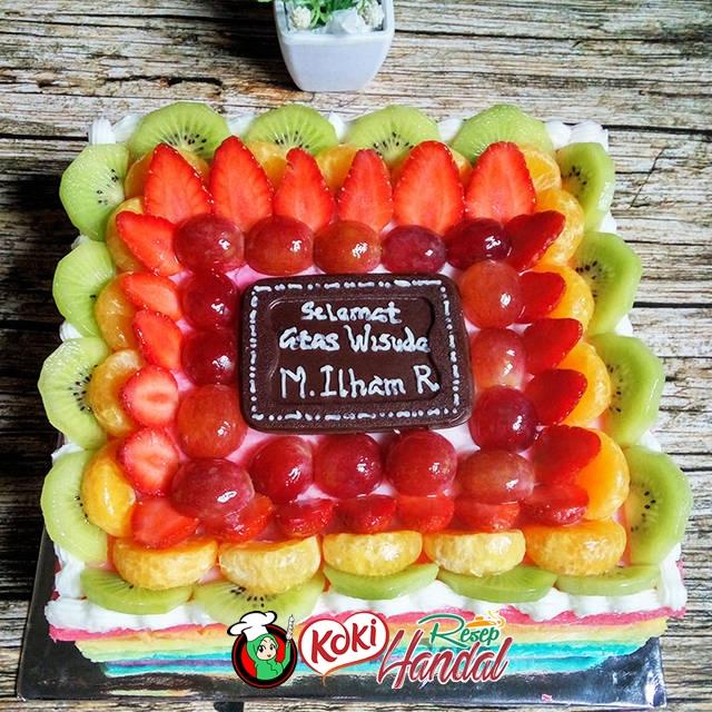 Resep Rainbow Cake Kukus - Resep Saifullah.id