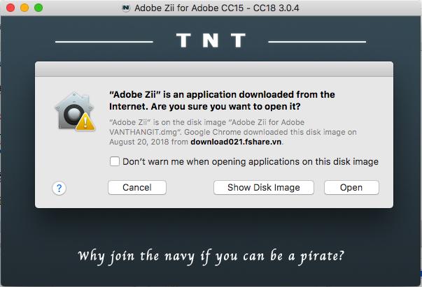 Hướng dẫn kích hoạt bản quyền Adobe CC 2018 trên Macbook/macOS